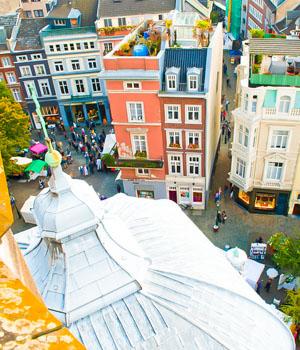 Shoppingtour in der Stadt Aachen