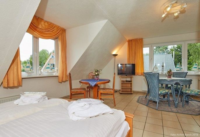Doppelzimmer mit kleiner Pantryküche Gästehaus Unter den Linden