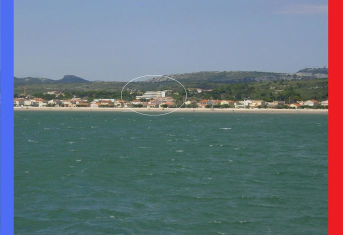 WiFi App. Panoramablick auf das Mittelmeer