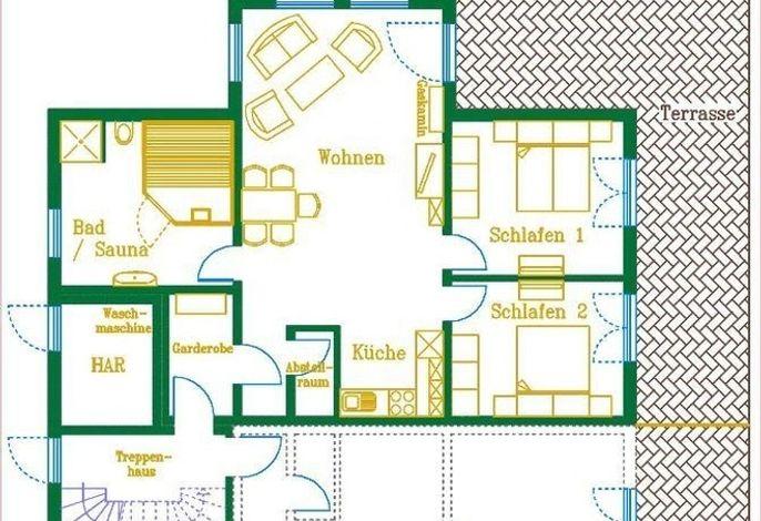 Ferienappartement im Erdgeschoss der Villa Royal