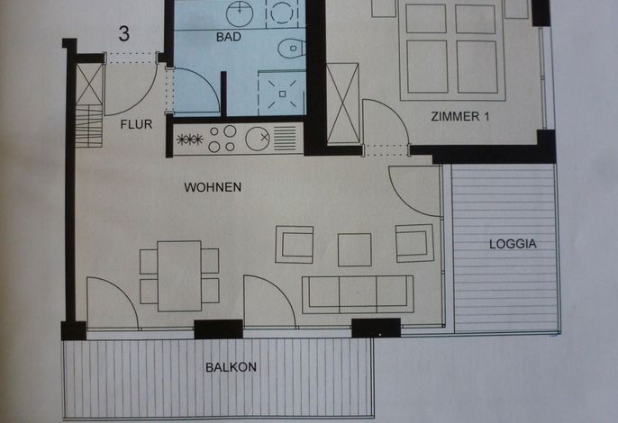 Apartmenthaus Hafenspitze Ap. 3 -