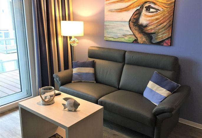 Apartmenthaus Hafenspitze, Ap. 33 mit Sauna, Blickrichtung offene See