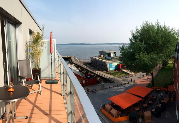 Apartmenthaus Hafenspitze  Ap. 36, Blickrichtung Strand/Offenes Meer