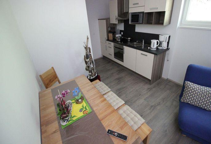 Komfortappartement 6 mit 1 Schlafzimmer und Balkon