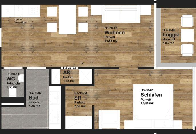 Adler Resort - 2 Raum Standard Appartement