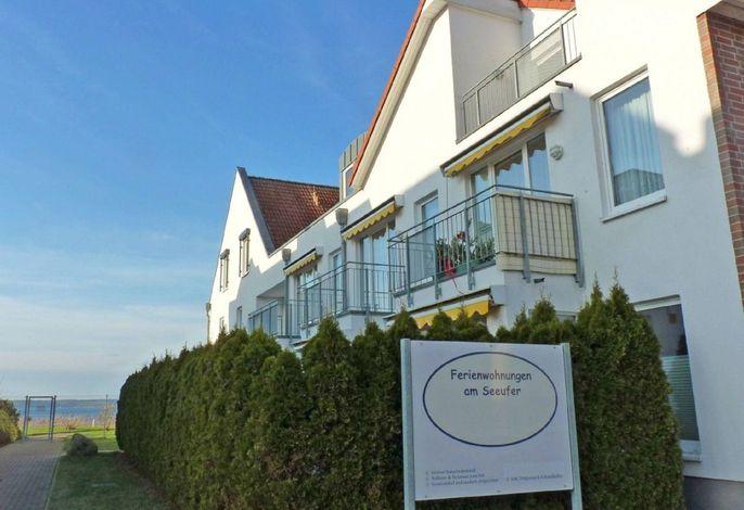 2 Zi Ferienwohnung Müritzblick, direkt am Seeufer, perfekte Lage, barrierefrei