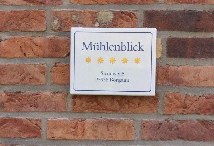 Das Haus Mühlenblick - klassifiziert mit 5 Sternen.
