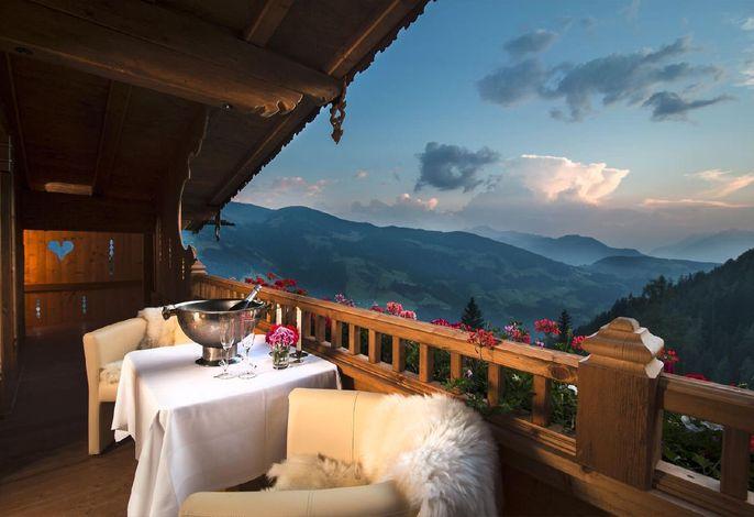 Ausblick vom Balkon in der Suite