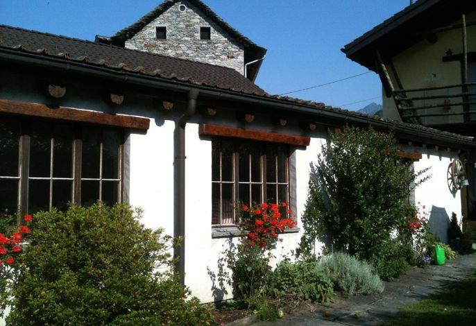 Casa San Cristoforo - Atelier ###br###Sicht vom Innengarten