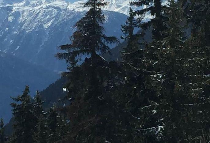 Sicht vom Balkon - direkt aufs Matterhorn
