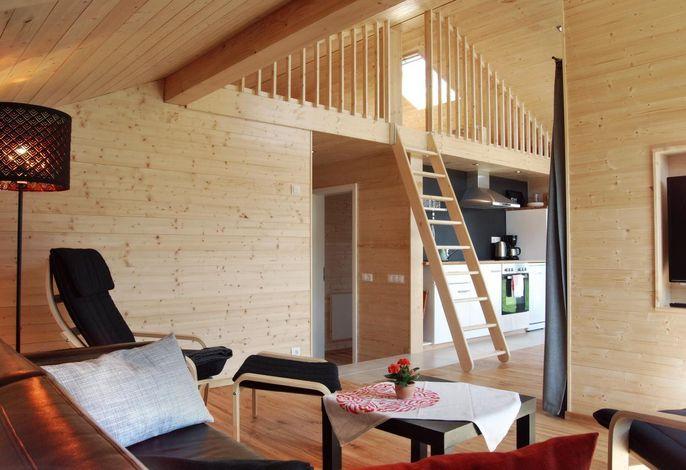 Mein Ostseeferienhaus - Ferienhaus an der Ostsee in Zierow / Wohnen im Galeriebereich