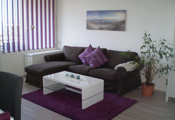 Wohnzimmer mit Blick auf die Kieler Außenförde