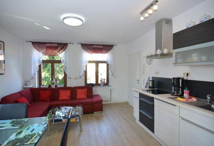 Wohnzimmer 1. Etage mit integrierter Küche