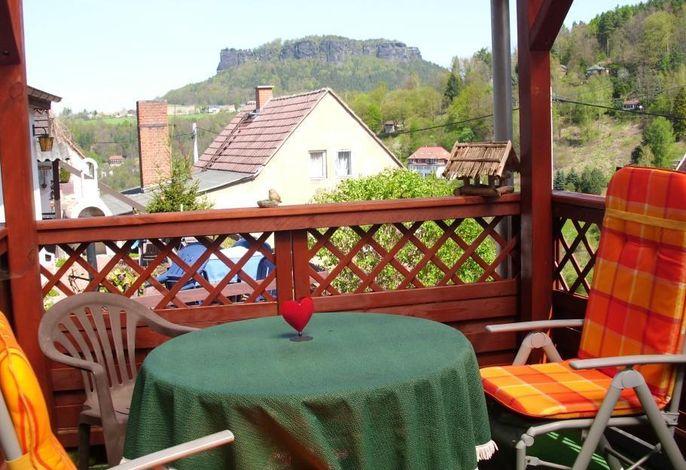 Außenansicht des Gebäudes. Ferienhaus 2 Terrasse