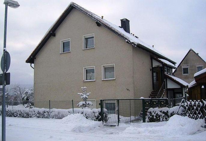 Aussenansicht Ferienhaus Wotan im Winter