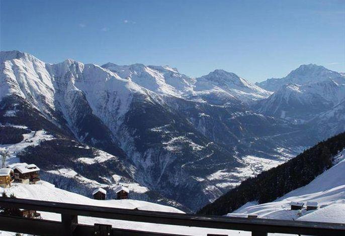 Süd Aussicht aus Apartment Balkon Winter