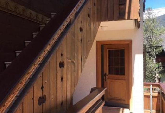 Hauseingang Chalet Fagus