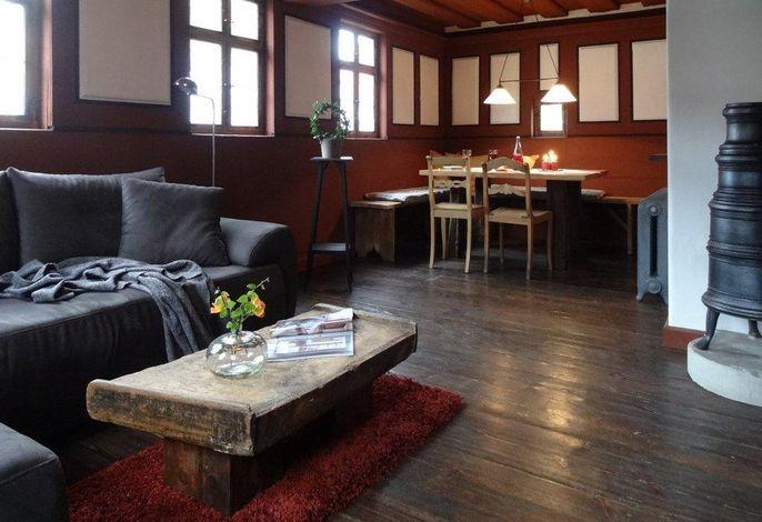 Wohn- und Esszimmer in der vertäfelten Stube, Erdgeschoss