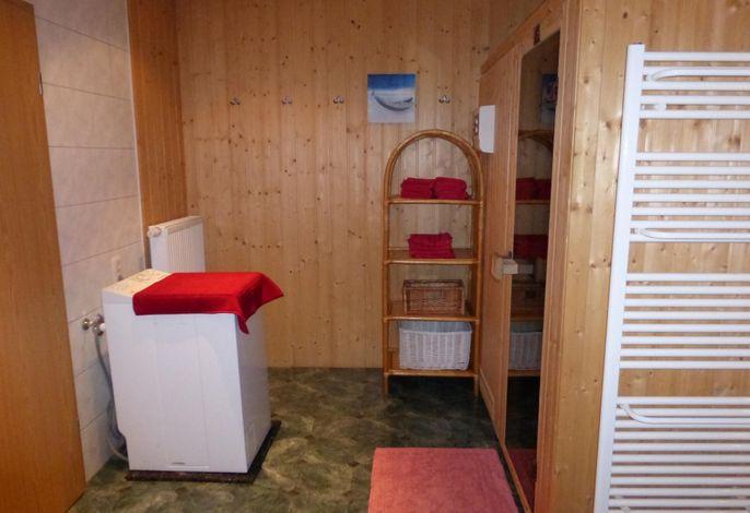 Waschmaschine und Sauna