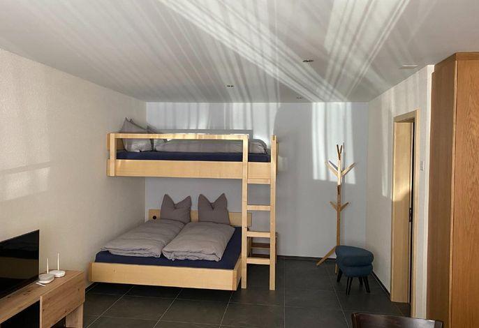 Schlafecke mit zwei Doppelbetten