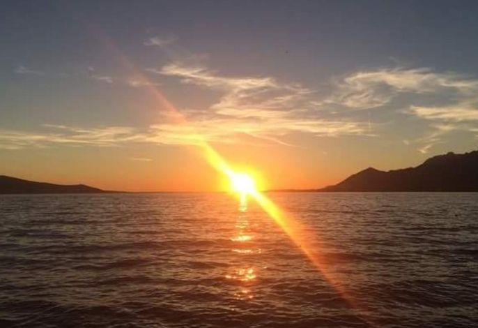Das ist ECHT, Sonnenuntergang in der Bucht von Rovanjska