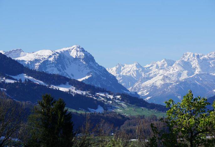 Sicht in die Alpen