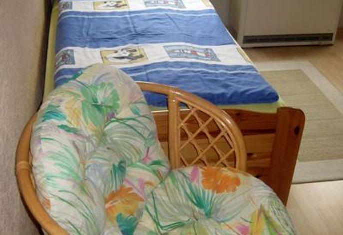 Schlafzimmer ZWEI mit 2 Einzelbetten