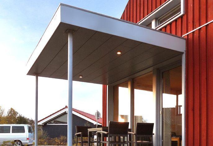 Mein Ostseeferienhaus - Ferienwohnung im schwedenroten Ferienhaus an der Ostsee, Strand 500m, 4 Personen, mieten