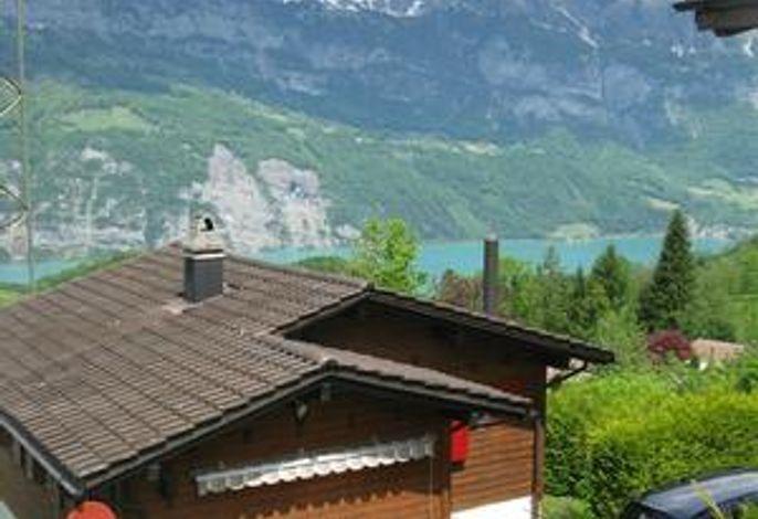 Eingang Ferienhaus und Aussicht