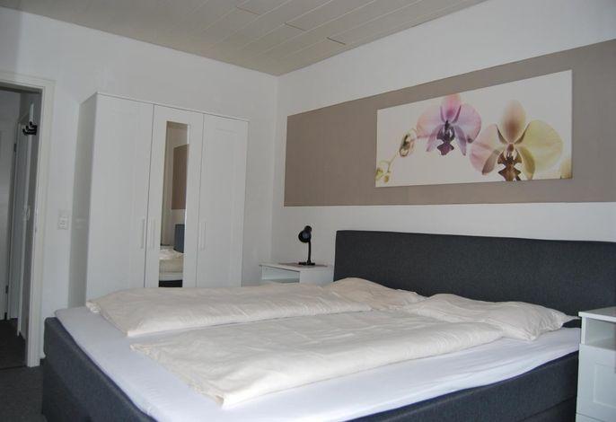 Ein Schlafzimmer in Typ B, Terrasse