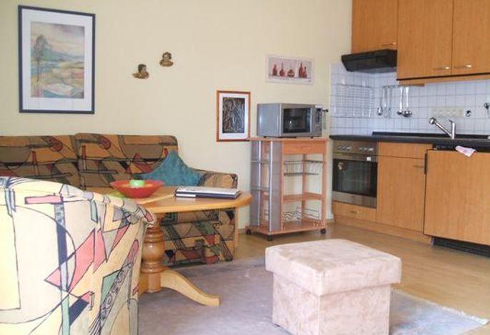 Vollausgestattete Küche im Wohnraum