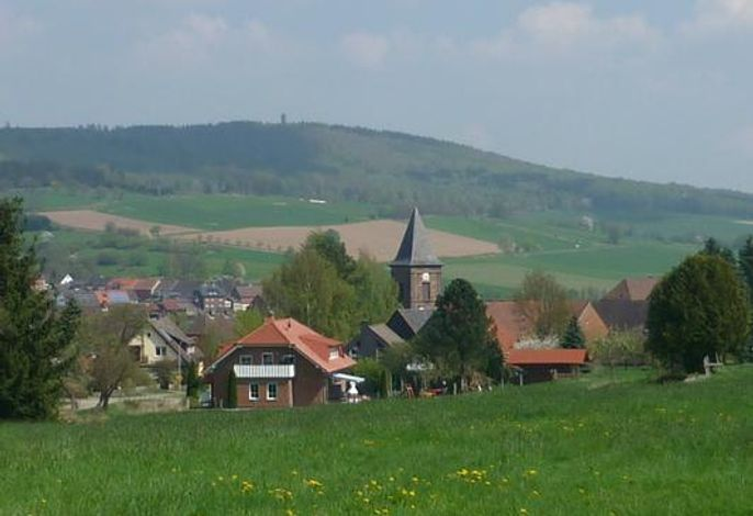 Blick aufs Haus / Dorf