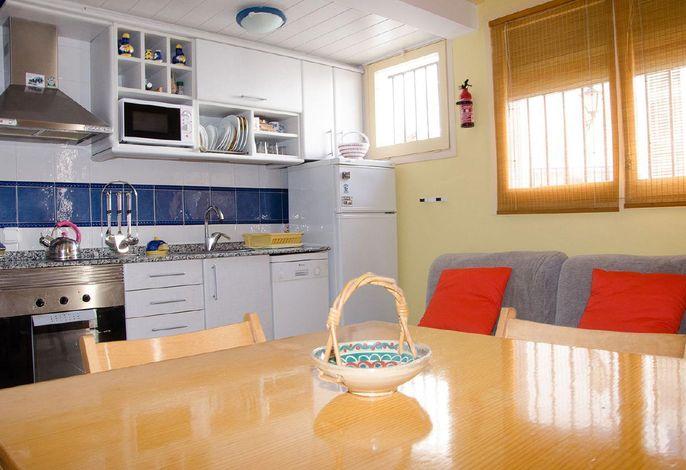 Kochen und Wohnzimmer