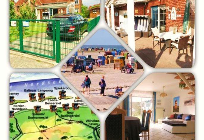 Ferienhaus Huus Wattenmeer im Küstenbadeort Neßmersiel an der Ostfriesischen Nordseeküste