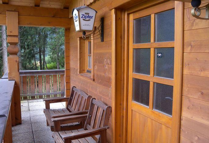 Studio mit Sauna am Waldrand