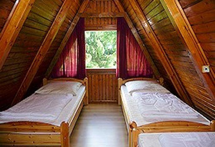 Finnhütte mit Terrasse