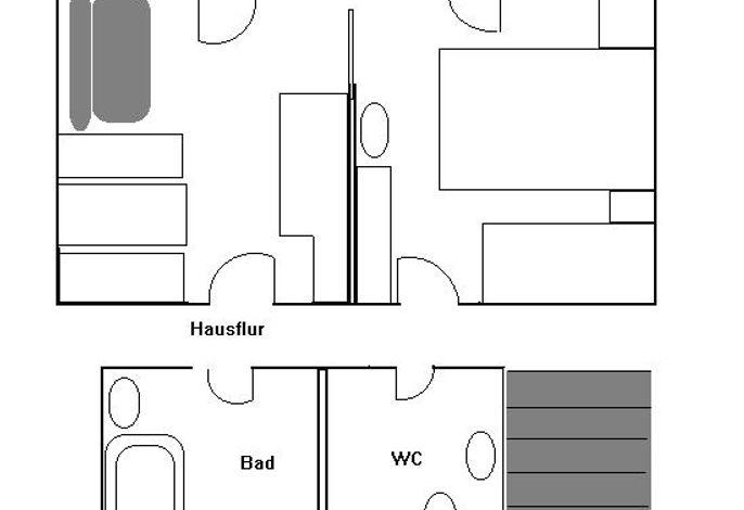Skizze des Appartements