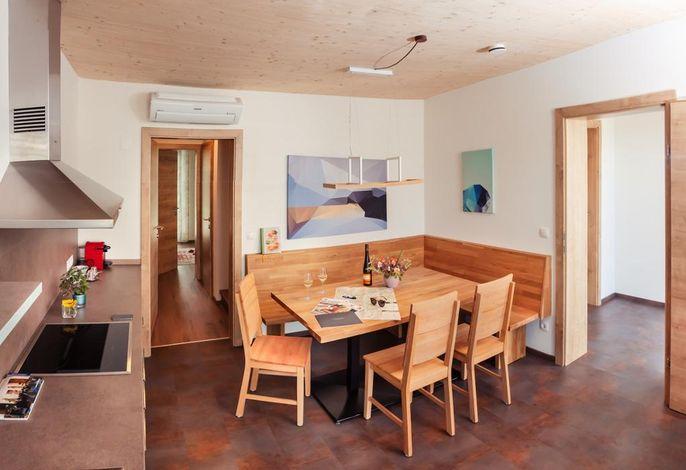 Küche/Essbereich im Chalet