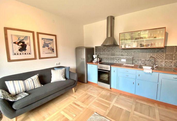 Apartmenthaus Eisenstrasse - Küche/Essbereich