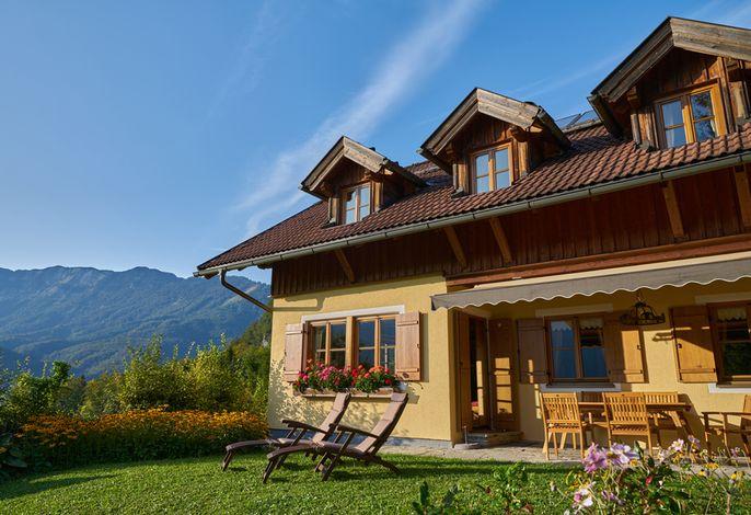 Terrassen und Garten-Ansicht