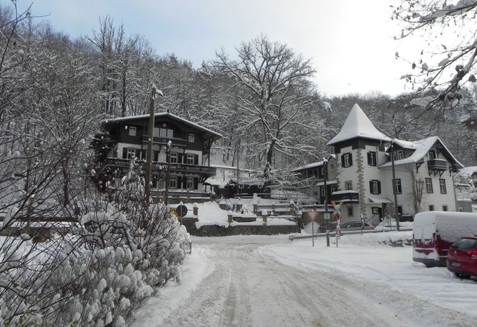 Unsere Pension im Winter