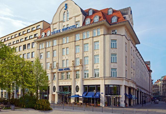 Außenansicht Seaside Park Hotel Leipzig