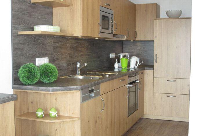 Küche in der Ferienwohnung Untersberg
