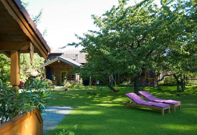 Gartenanlage Obermoarhof - hier könne Sie sich entspannen und erholen