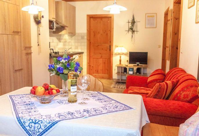 In der geräumigen Wohnküche lässt sich der Urlaub genießen