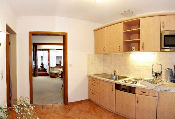 Küche der Ferienwohnung im Haus Neumaier