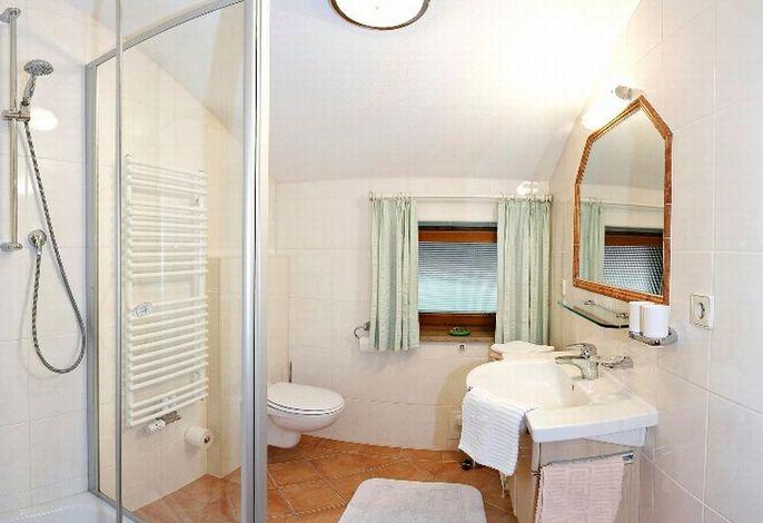 Badezimmer der Ferienwohnung im Haus Neumaier