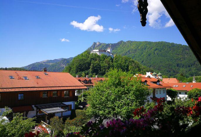 Blick Richtung Schloss Hohenaschau