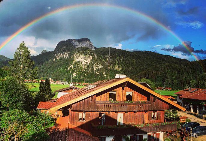 Regbenbogen über Oberwössen