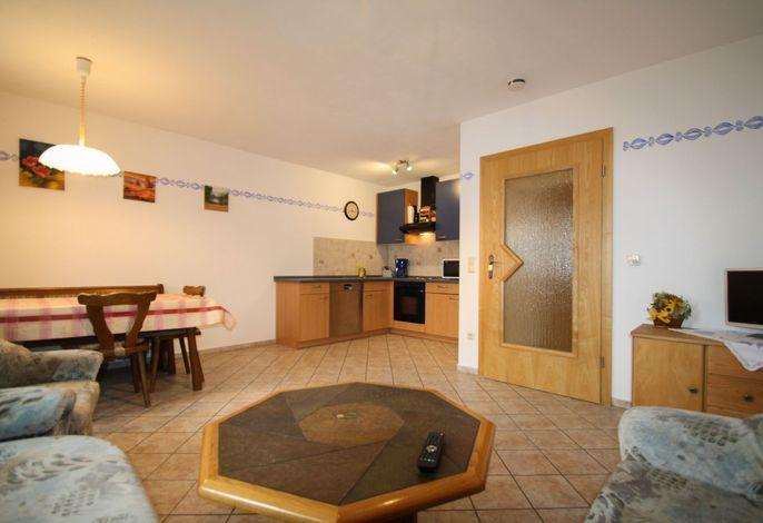 Wohnküche Ferienwohnung Hasennest